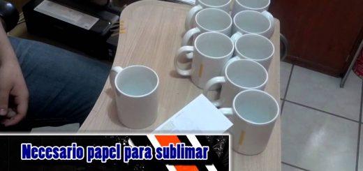 como sublimar tazas