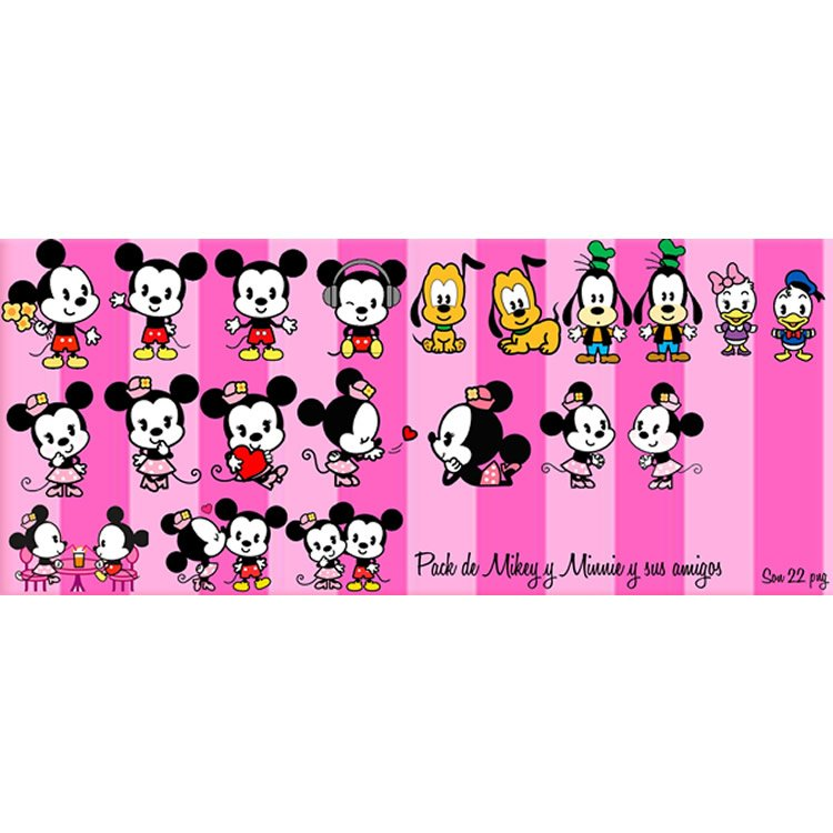 Mickey Mouse Minnie Mouse y amigos Png