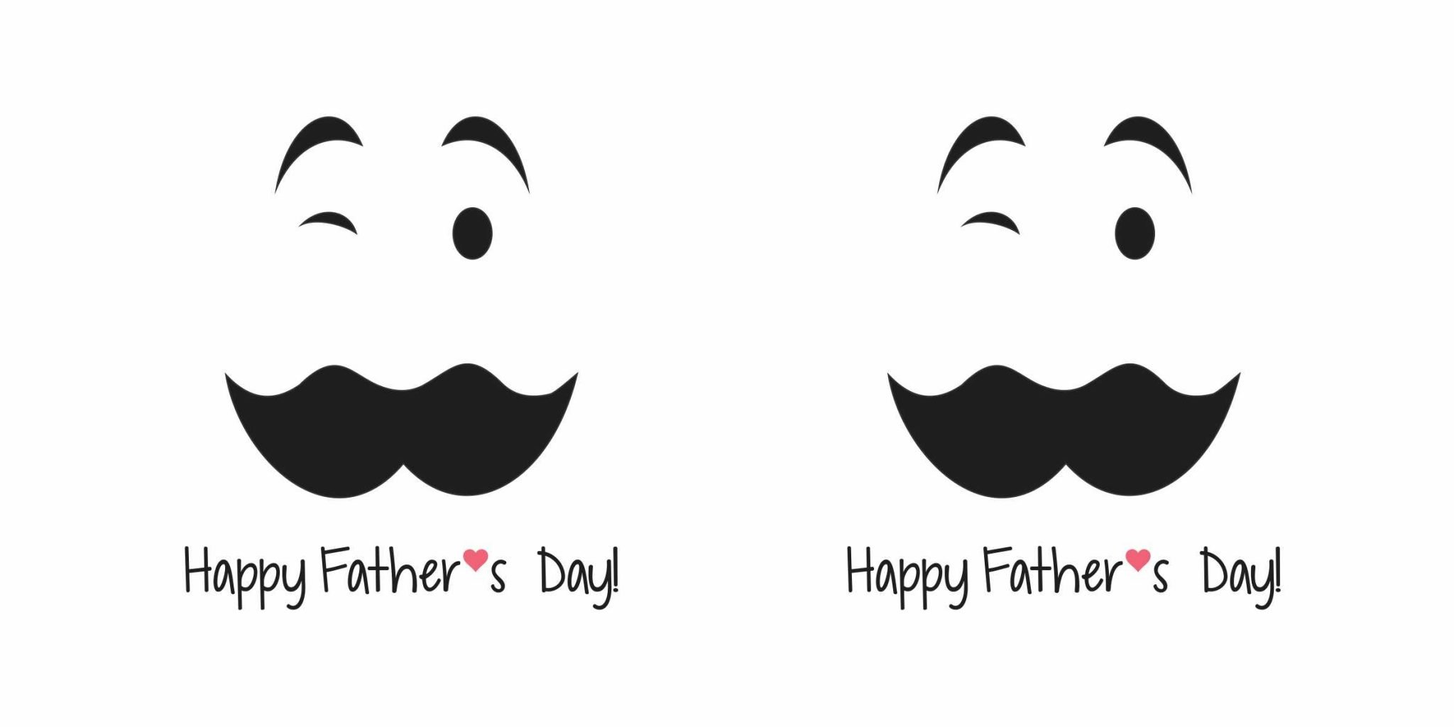Happy fathers day mustache vector diseño