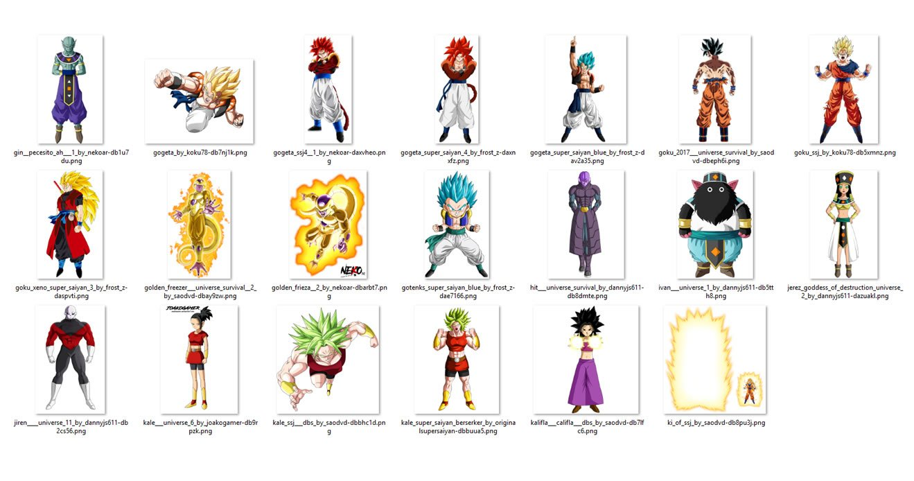 Personajes dragon ball super PNG HD 20 pack #2