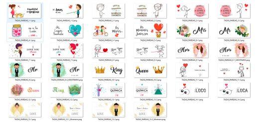 Diseños parejas amor