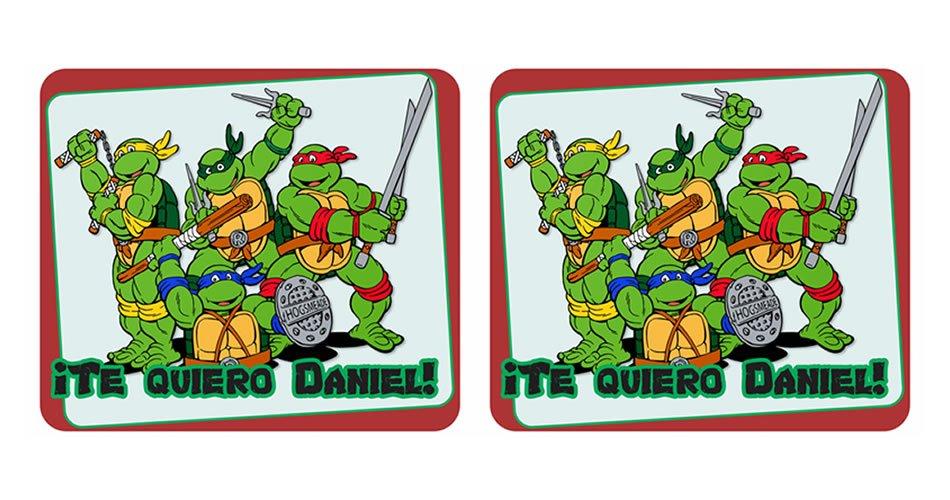 Tortugas ninja diseño cojin mousepad