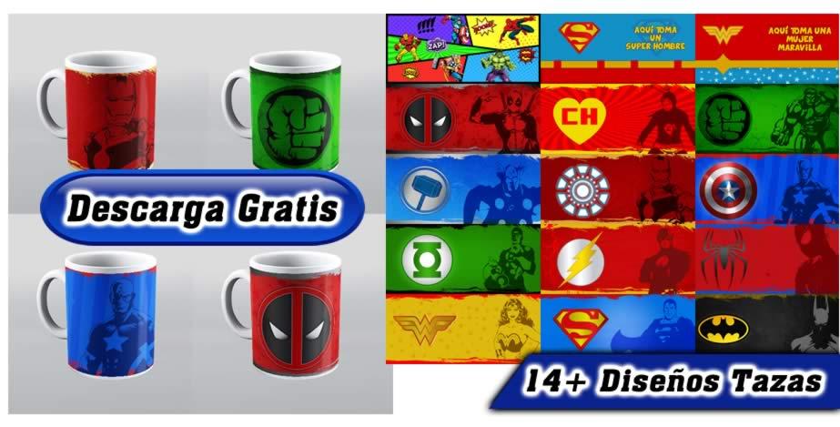 Tazas dc comics marvel superheroes