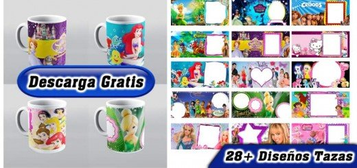 Disney princesas diseños tazas