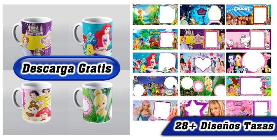 Disney princesas diseños tazas espacio para foto