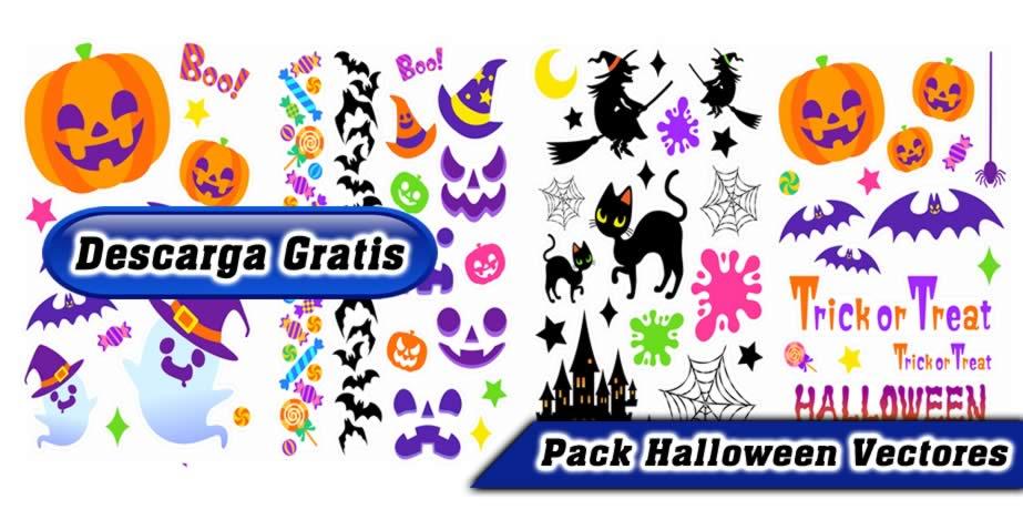 Diseños Halloween vectores Pack