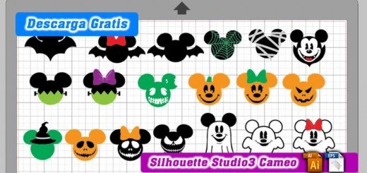 Mickey mouse halloween silhouette cameo