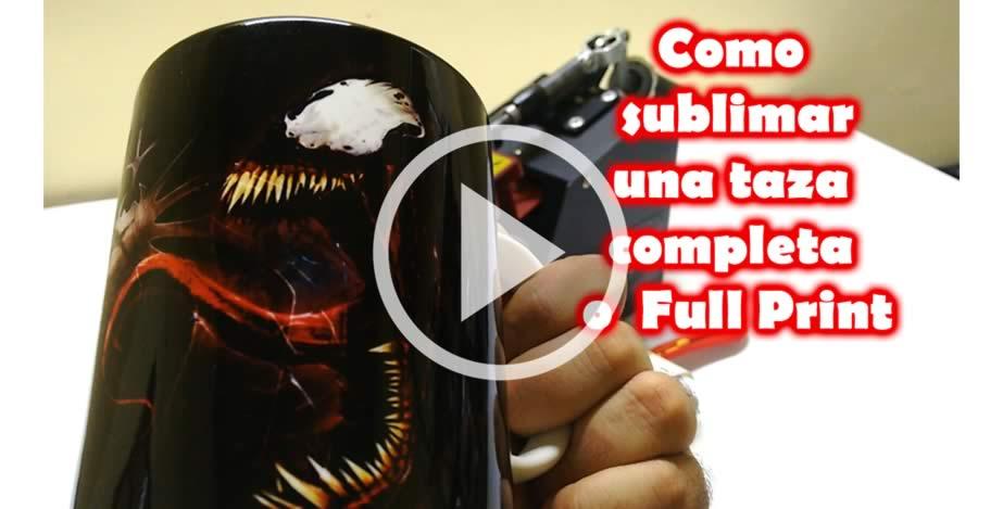 Como sublimar tazas completas
