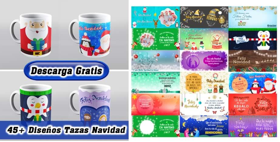 Diseños tazas navidad para sublimar pack #1