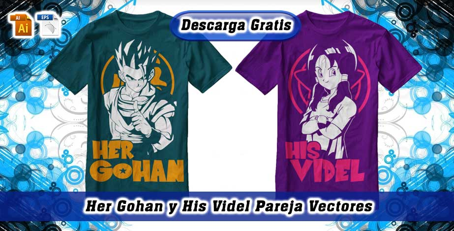 Her Gohan His Videl vectores Dragon Ball