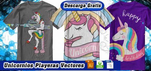 Diseños unicornios vectores