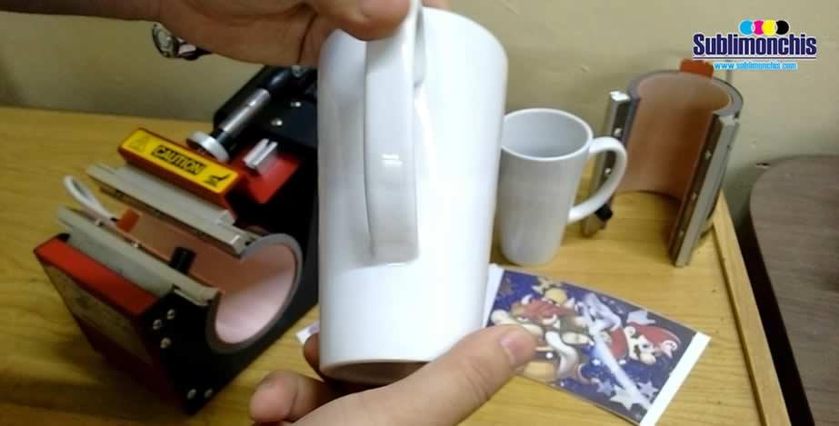 taza conica para sublimar blanca