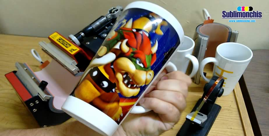 taza conica sublimada mario bros