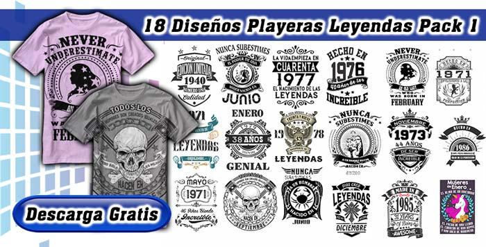 diseños playeras leyendas