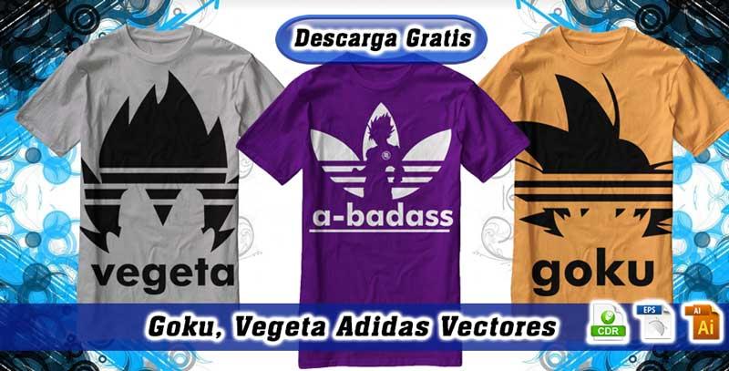 goku vegeta adidas vectores