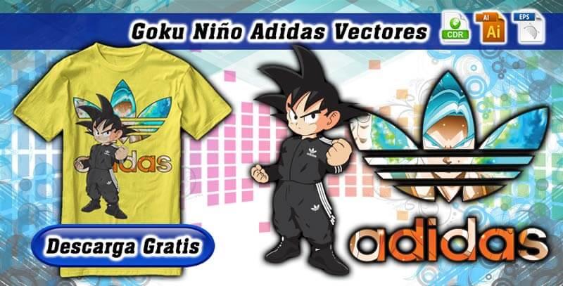 Goku Niño Adidas Vectores