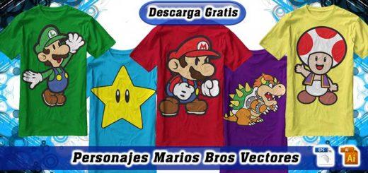 Personajes Mario Bros Vectores