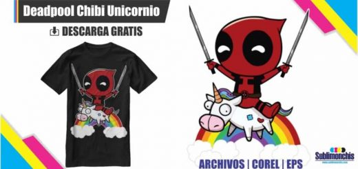 Vectores Deadpool Unicornio