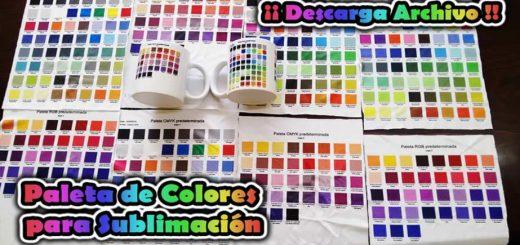 Paleta Colores para Sublimacion