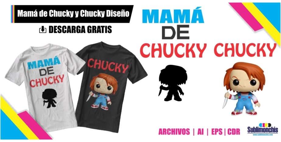 Papa o Mama Chucky Diseños Playera