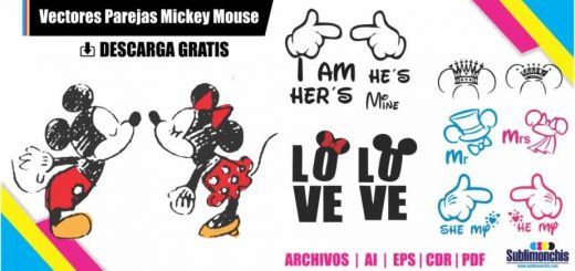 parejas novios mickey mouse vectores