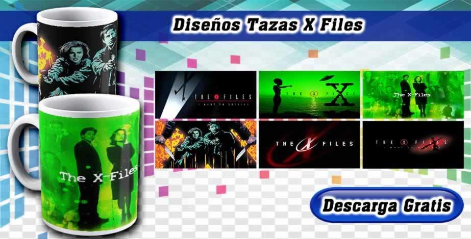 Plantillas Tazas X Files Serie