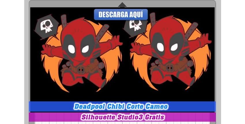 Deadpool Chibi Corte Cameo 3