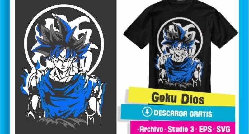 Goku Dios Archivo Cameo Studio 3
