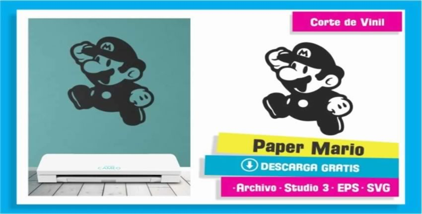 Paper Mario Bros Mini Vinil Pared