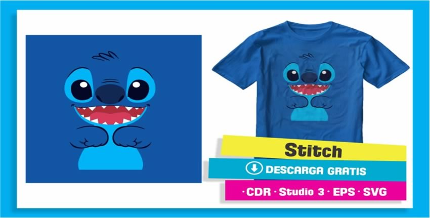 Diseño Playera Stich Disney Vectores