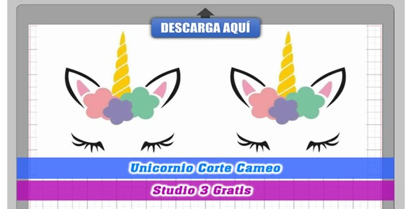 Unicornio Flores Cameo Studio 3