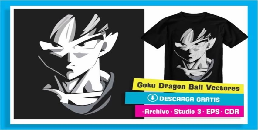 Vector Goku Dragon Ball Vinil Cameo 3