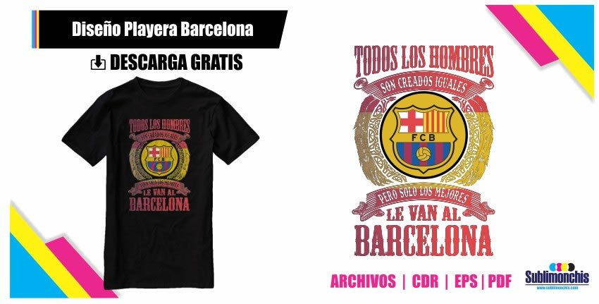 Diseño Playera Barcelona Vectores
