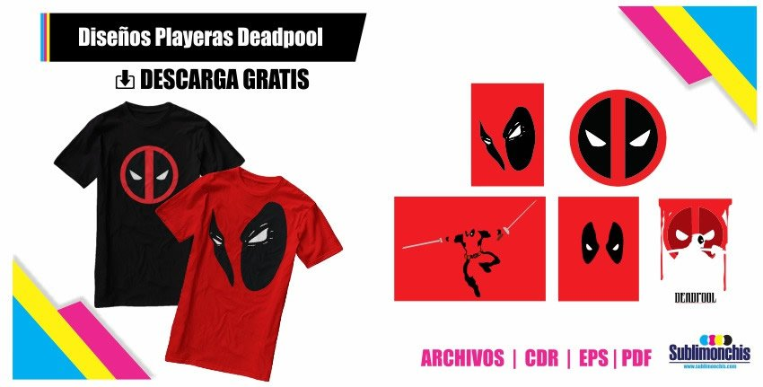 Diseños Playeras Deadpool Vectores