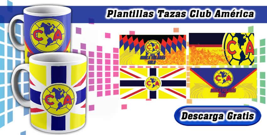 Plantillas tazas club america
