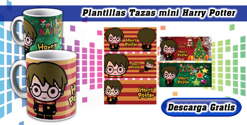 Plantillas Tazas Mini Harry Potter