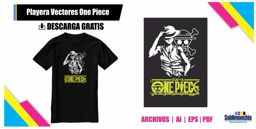 Playera Vectores Luffy One Piece