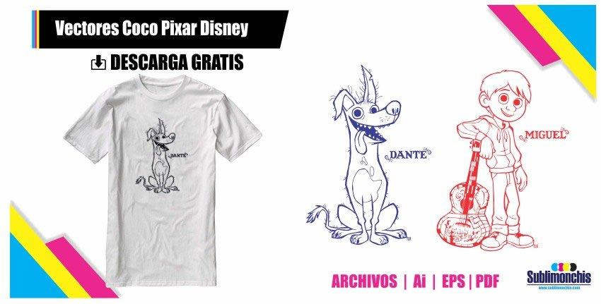 Vectores Coco Pixar Disney