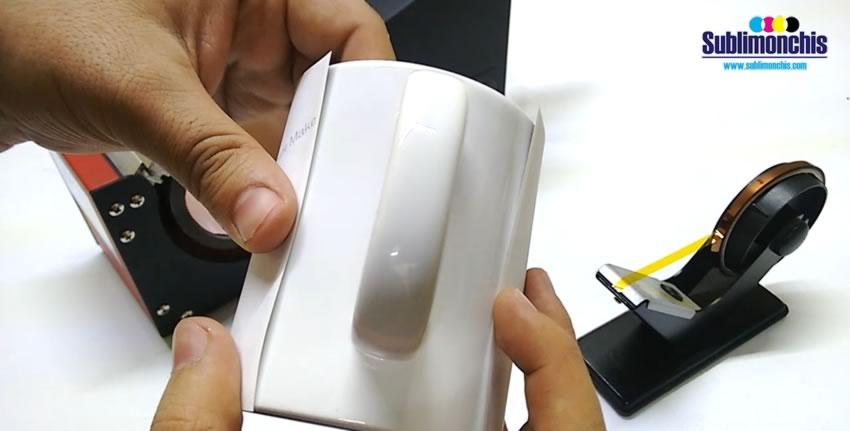 papel sublimacion en taza blanca