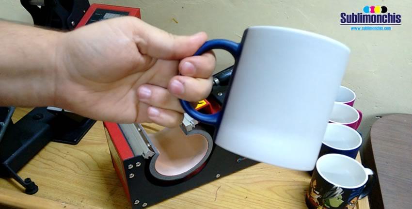 precalentamiento taza magica azul