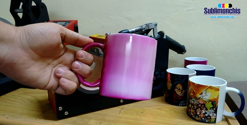 precalentamiento taza magica rosa