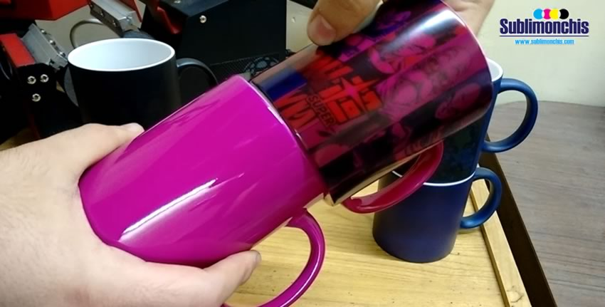 tazas magica rosa sublimada comparacion