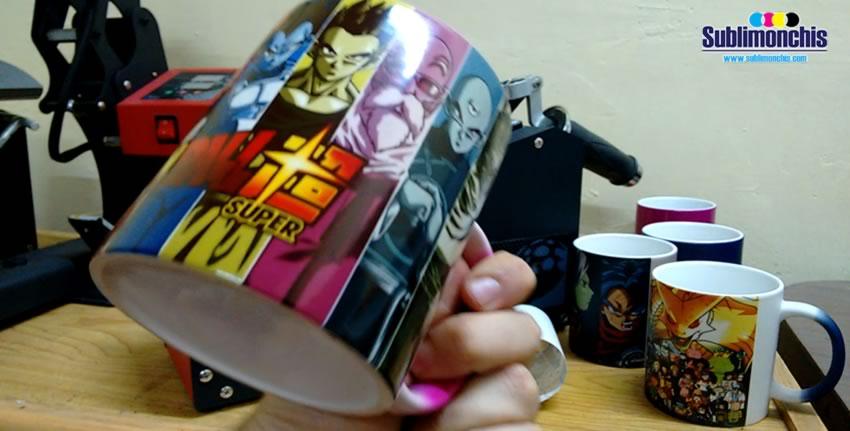 tazas magica rosa sublimada completa