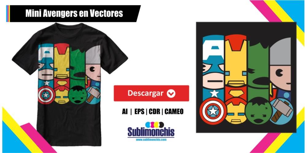 Mini Avengers en Vectores Gratis