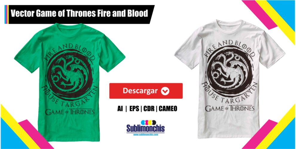Vector Game of Thrones para Playera