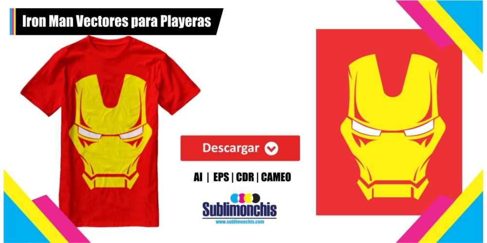 Iron Man Vectores para Playeras