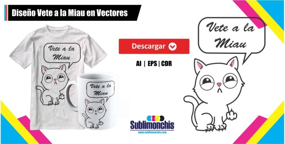 Diseño Vete a la Miau en Vectores