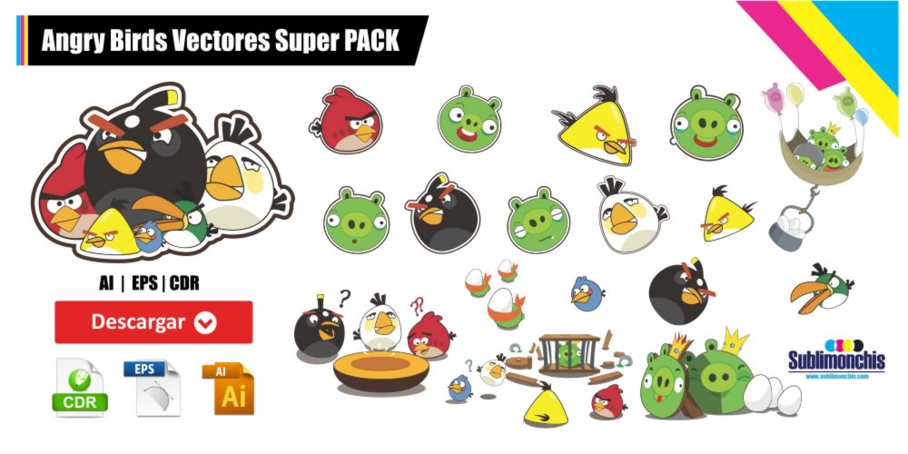Angry Birds Vectores Super Pack