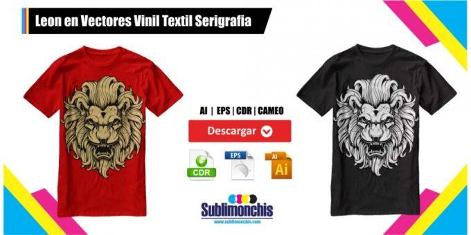 Leon Vectores Playeras Vinil Textil