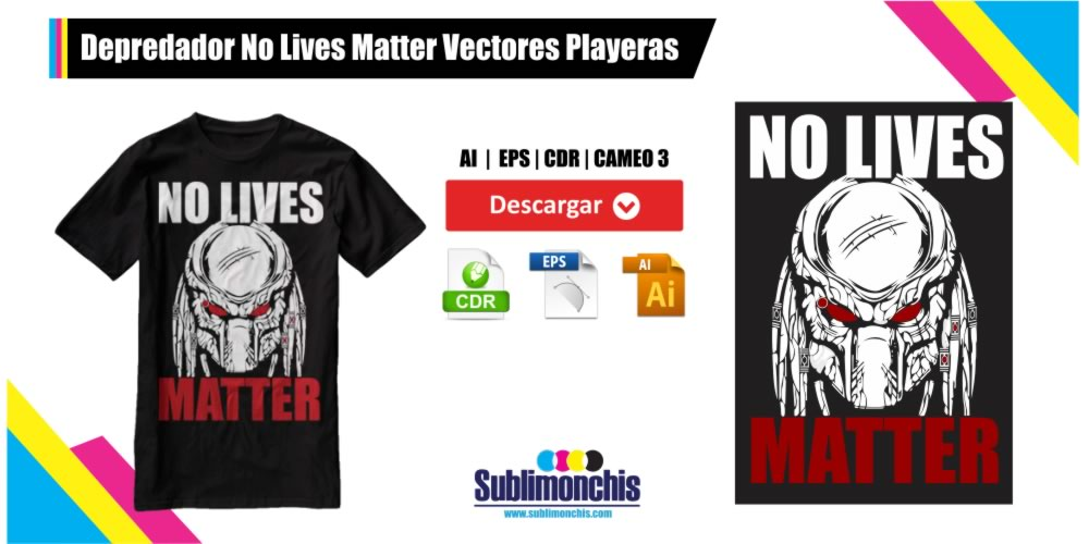 Depredador Vectores Playeras No Lives Matter